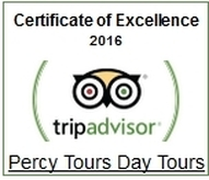 2016 TripAdvisor Award Winners for Percy Tours Hermanus