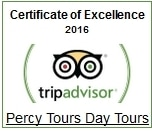 TripAdvisor Percy Tours Hermanus 2016 Winner of Excellence