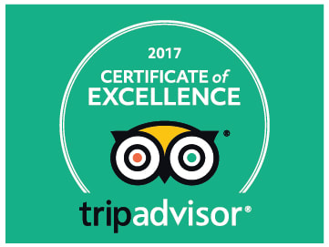 Percy Tours Hermanus TripAdvisor certificate of excellence 2017