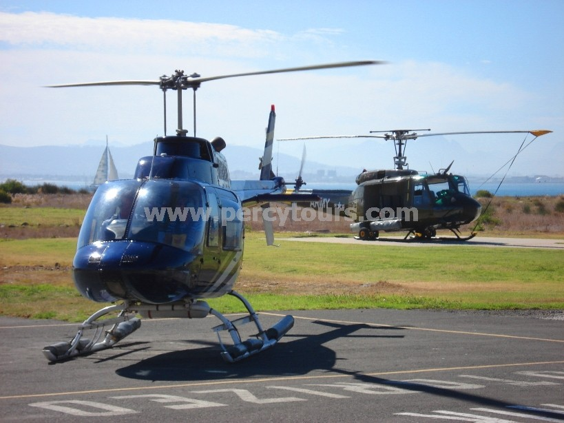 Helicopter flights over Cape Town regions