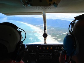 View from Cessna plane flight, Hermanus