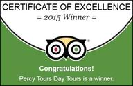 TripAdvisor 2015 Winner of Excellence by Percy Tours Hermanus