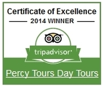 2014 Winner of Excellence, Percy Tours Hermanus on TripAdvisor
