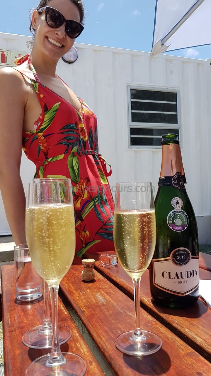 MCC champagne of Hermanus wine region, winery, wine tours, near Cape Town, South Africa