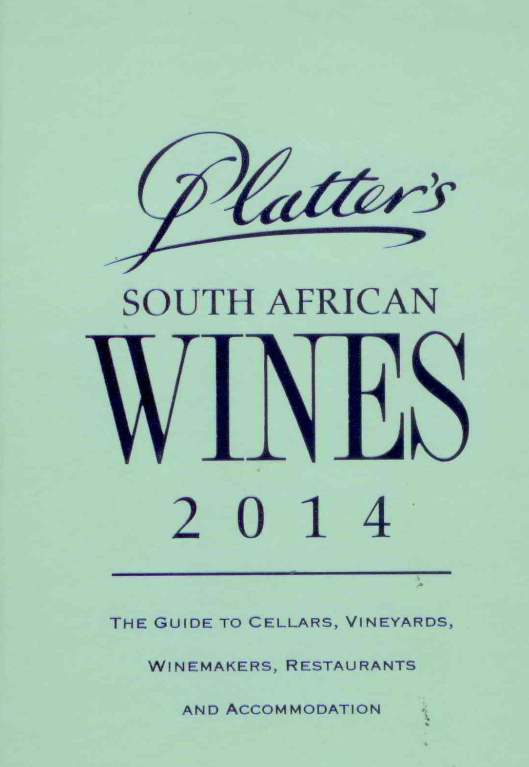 Percy Tours Hermanus in 2014 John Platter wine book of South Africa