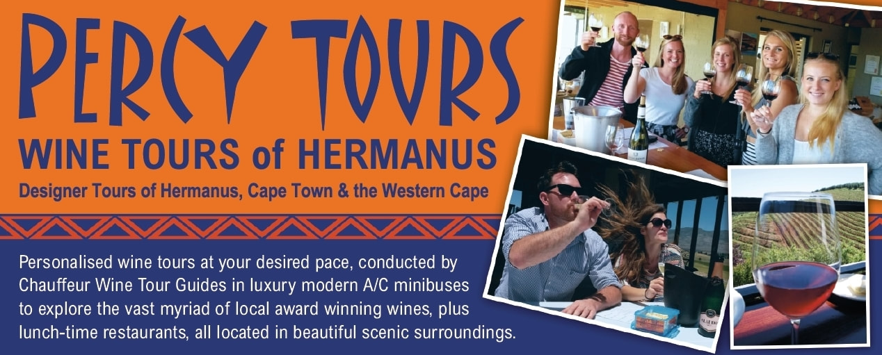 Wine Tours of Hermanus, Cape Town, Stellenbosch, Franschhoek and beyond.... conducted by Percy Tours