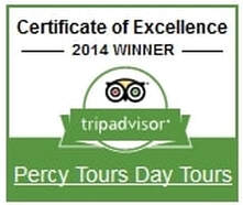 2014 Winner of Excellence on TripAdvisor, Percy Tours Hermanus, near Cape Town, South Africa