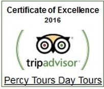 2016 Winner of Excellence by Percy Tours Hermanus on TripAdvisor