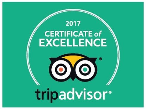 2017 TripAdvisor Award for Percy Tours Hermanus Certificate Of Excellence