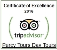 2016 TripAdvisor Awards for Percy Tours Hermanus