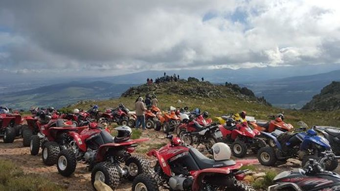 Quad Biking in the mountains and wine regions of Hermanus, near Cape Town, South Africa