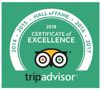 Percy Tours on TripAdvisor certificate of excellence