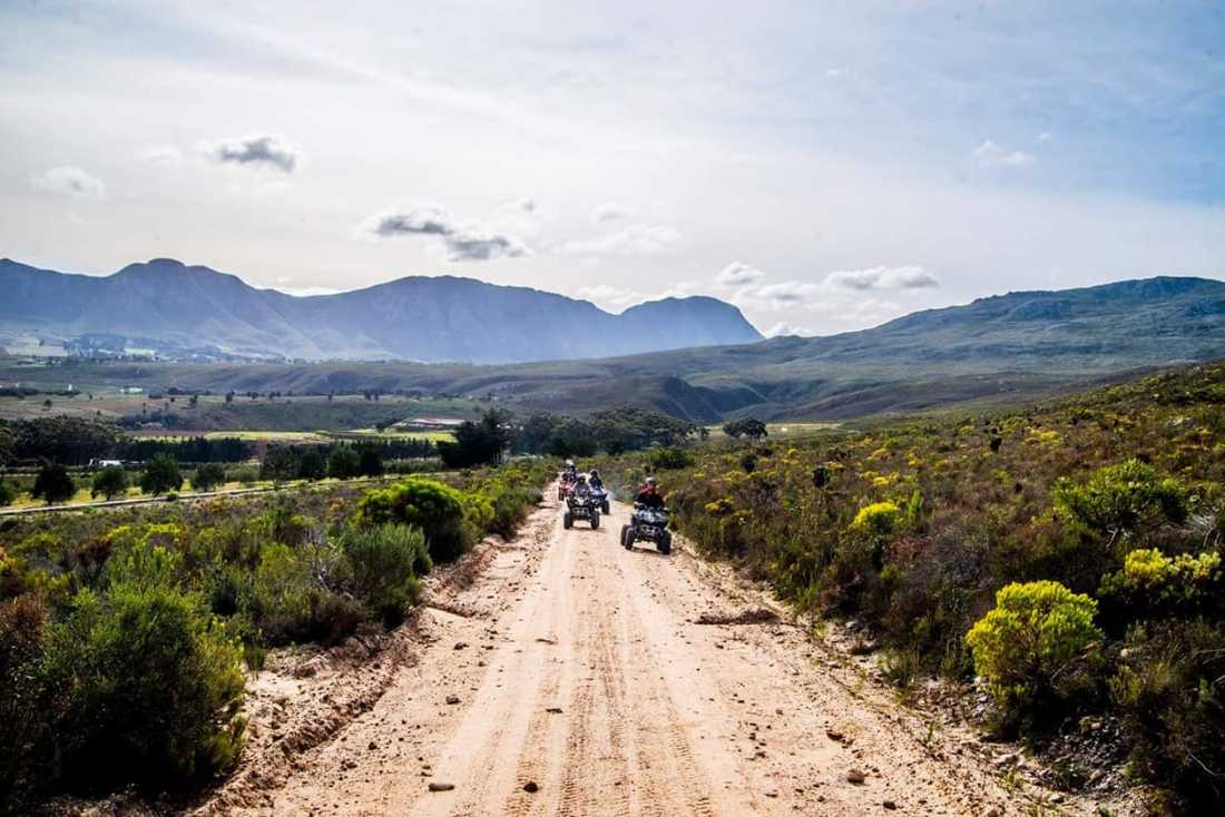 Quad biking in Hermanus mountains and wine regions, South Africa