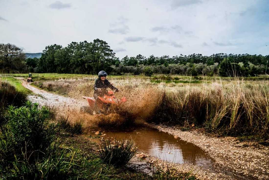 Quad biking in Hermanus rivers and wine regions, South Africa