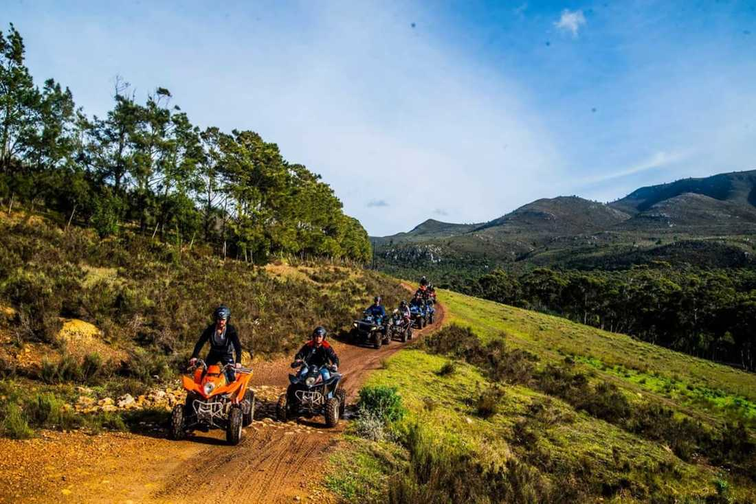 Quad biking in Hermanus forests and wine regions, South Africa