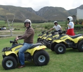 Quad Biking in the wine regions near Hermanus, South Africa