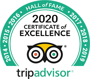 Hall of Fame for 7 years of excellent reviews on TripAdvisor for Percy Tours, Hermanus, South Africa