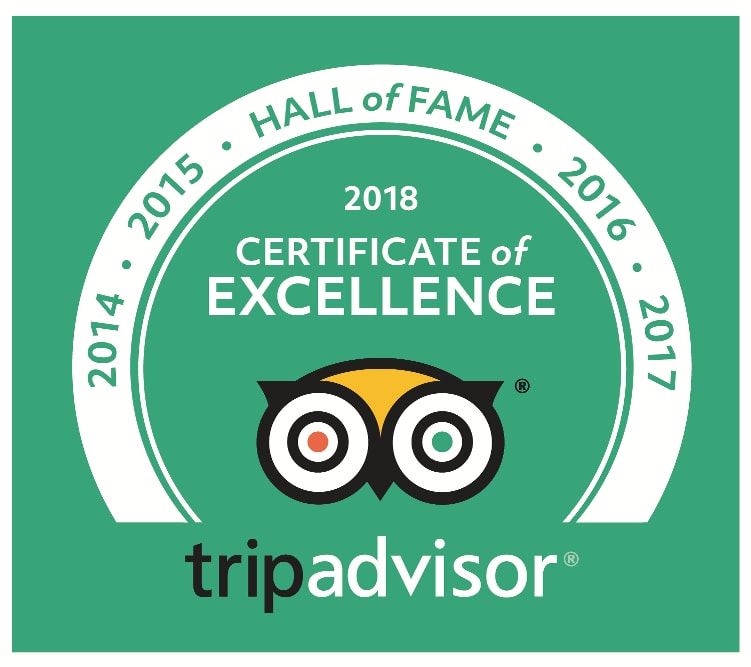 Percy Tours TripAdvisor Winner of Excellence