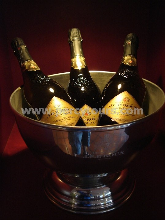 MCC champagne bottles, winery, wine tours, Cape Town, South Africa