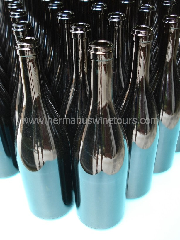 Wine bottles, winery, wine tours of Hermanus, near Cape Town, South Africa