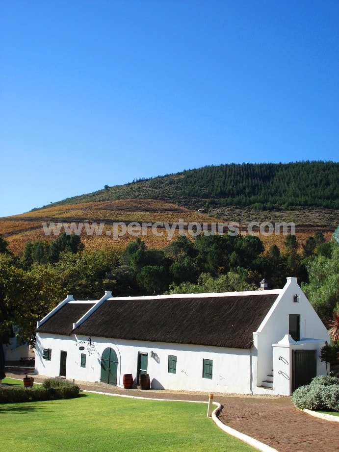 old Dutch architecture, Winery, wine tours, Stellenbosch, near Cape Town, South Africa